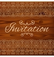 Wedding invitation card with floral ornament on vector image