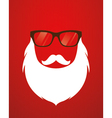 Santa beard and glasses vector image