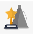 Star trophy cinema and movie design vector image