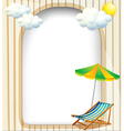 An empty entrance template with an umbrella and a vector image