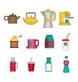 drink icon set flat vector image