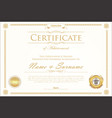 certificate or diploma retro design template 5 vector image
