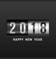 2018 happy new year vector image