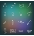 Dental icons outline vector image vector image