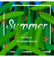 Summer season concept tropical paradise with palm vector image vector image