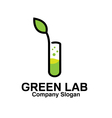 Green Lab Design vector image