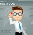 businessman target dart vector image