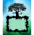 tree banner vector image vector image