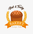 bakery shop label icon vector image