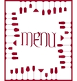 Bar menu background vector image