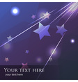 blue and purple falling star or meteor background vector image