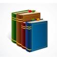 Books shelf icon vector image