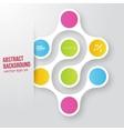 color circles infographic Color molecule vector image