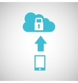 device transfer cloud protection data vector image