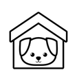 dog canine young house pet outline vector image