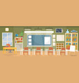 flat of an empty classroom in vector image