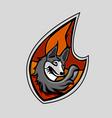Fox head emblem vector image