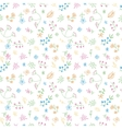 hand drawn doodle flower seamless pattern vector image