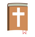 holy bible cartoon icon isolated vector image