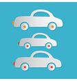 Paper Cars on Blue Background vector image