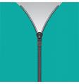 Realistic zipper template vector image