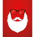 Santa beard and glasses vector image