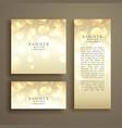 Shiny bokeh card design template vector image