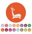 The elliptical trainer icon Bike symbol Flat vector image