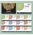 12 month desk calendar template for print vector image vector image