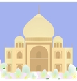 Taj Mahal with lotuses vector image
