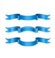 Blue Ribbons Set vector image