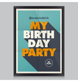 Happy birthday poster card vector image vector image