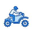 cross motorcycle line icon vector image