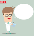 Doctor writing a report - - EPS10 vector image vector image