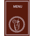drinks menu vector image