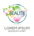 Logo Abstract Beauty Flower vector image