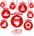 Christmas and happy new vector image