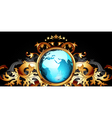 world with ornate frame vector image