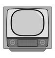 vintage tv set vector image vector image