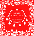 christmas decor sign vector image vector image