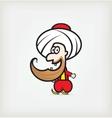 Arab character vector image