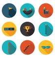 flat icons biathlon vector image