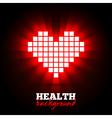 Heart energy health concept vector image