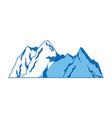mountain natural landscape flora image vector image