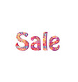 sale sign season sale icon colorful tag vector image