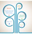 Tree of web design bubbles vector image