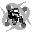 Vintage van to travel vector image