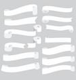 white ribbon banner vector image