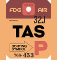 vintage luggage tag vector image vector image