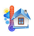 temperature in the house and the weather vector image